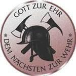 Emblem Feuerwehr, 50mm Durchmesser