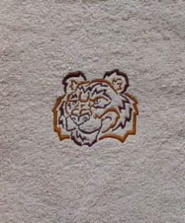 Duschtuch aus Frottee mit Stickmotiv Tiger - Vorschau