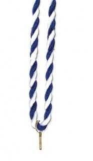 Medaillen Kordel blau/weiß
