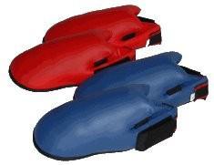 Karate Spannschützer / Fußschützer blau - Vorschau 1