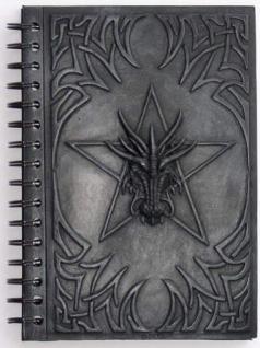 Ringbuch Motiv Drache mit Pentagramm - Vorschau 1