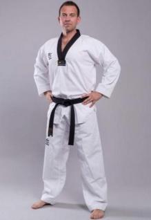 Taekwondoanzug WACOKU WTF Competition schwarzes Revers