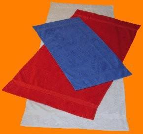 Saunatuch Supreme 100x200 cm weiß 600 g/m2 mit Namensbestickung meerblau 3901 - Vorschau 2