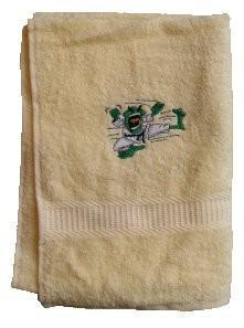 Handtuch aus Frottee mit Bestickung Kampfsportmotiv - Vorschau 1