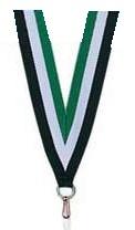 Medaillen Band grün und weiß und schwarz