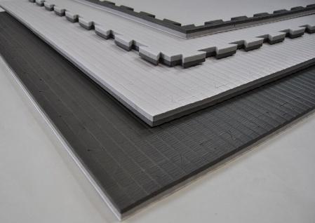 Wendematte Professional schwarz/grau - 100 x 100 x 2, 0cm