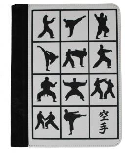 Schreibunterlage mit Karate Motiven