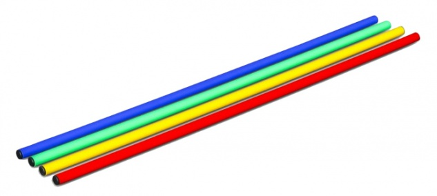 Koordinationsstange - Trainingsstange gelb 80, 100, 120, 160 cm - Vorschau 2