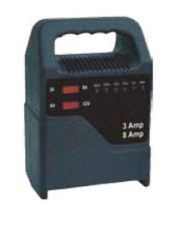 8 Ampere Batterie-Ladegerät 6 + 12 Volt