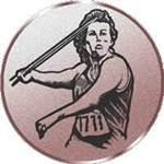 Emblem Speerwerfen/Damen, 50mm Durchmesser