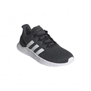 adidas Sportschuhe Questar Flow schwarz mit weißen Streifen