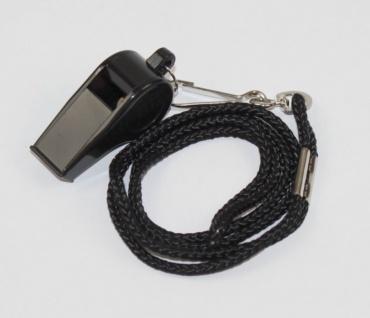Trillerpfeife Kunststoff mit schwarzem Band