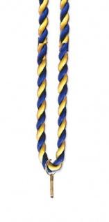 Medaillen Kordel blau/gelb