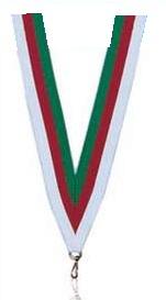 Medaillen Band grün und rot und weiss
