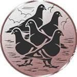 Emblem 5 Tauben, 50mm Durchmesser - Vorschau 1