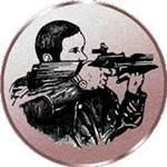Emblem Schießen/Gewehr/He, 50mm Durchmesser