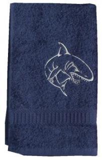 Handtuch aus Frottee mit Bestickung Haimotiv - Vorschau 1