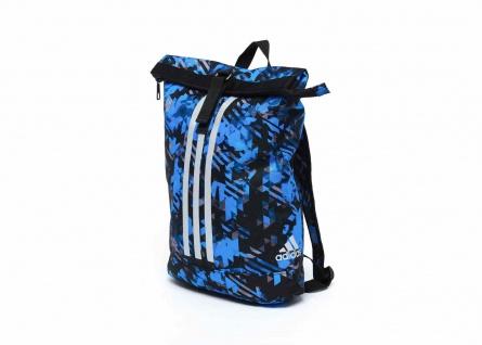 adidas Seesack - Sportrucksack camouflage blau, Gr. S
