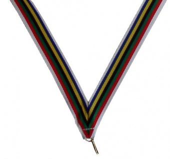 Medaillen Band mit Olympia Farben