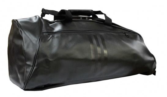 adidas Sporttasche - Sportrucksack schwarz/weiss Kunstleder - Vorschau 2