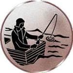 Emblem Angeln/Boot, 50mm Durchmesser