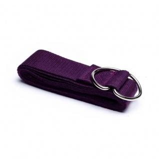 Yogagurt/Yogaband violett 183x4 cm