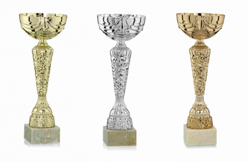 Pokal aus Kunststoff mit Marmorsockel gold (Farbe: gold)