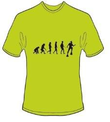 T-Shirt Evolution Tauchen Farbe kiwigrün