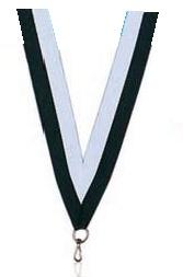 Medaillen Band weiss/schwarz