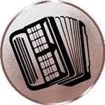Emblem Akkordeon, 50mm Durchmesser