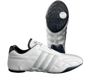 Adidas Kampfsportschuhe Adilux weiß mit silbernen Streifen