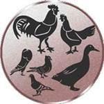 Emblem Geflügel, 50mm Durchmesser
