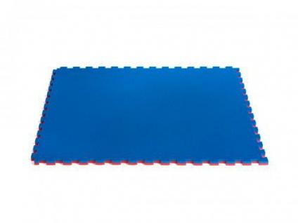 ProGame Karate Matte rot/blau, 2cm, WKF approved, mit Brandschutzzertifikat