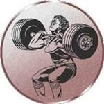 Emblem Gewichtheben, 50mm, Durchmesser