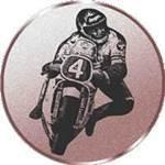 Emblem Motorradfahrer, 50mm Durchmesser
