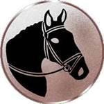 Emblem Pferdekopf, 50mm Durchmesser