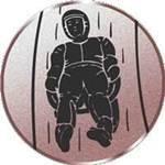 Emblem Rodeln, 50mm Durchmesser