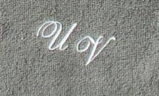 Seiftuch 30x30 cm New York anthrazit mit Intitialienbestickung weiß 0010