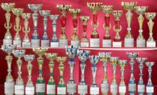 Pokalset bestehend aus 30 Pokalen