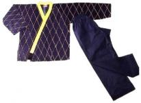 Hapkido Jacke schwarz/gelb