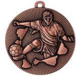Medaille Fussball Ø50mm bronze