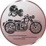 Emblem Motorrad Oldtimer, 50mm Durchmesser