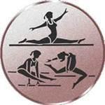 Emblem Turnen Damen, 50mm Durchmesser
