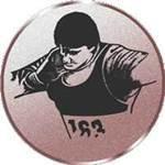 Emblem Kugelstoßen/Herren, 50mm Durchmesser