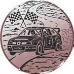 Emblem Auto-Rallye, 50mm Durchmesser