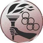 Emblem Olympiafackel, 50mm Durchmesser