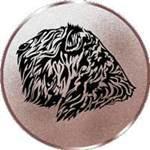 Emblem Bouvier kupiert, 50mm Durchmesser