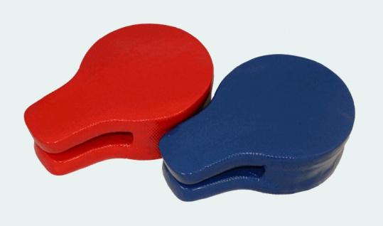 Doppel Handpratze oval