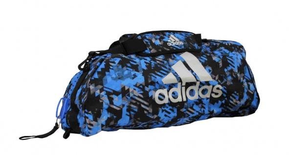 adidas Sporttasche - Sportrucksack Camouflage blau/silber