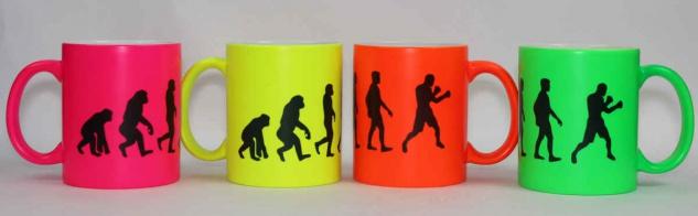 Tasse Evolution Boxing Neonfarbe